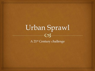 a introduction to urban sprawl Urban sprawl or suburban sprawl describes the expansion of human populations  away from central urban areas into low-density, monofunctional and usually.